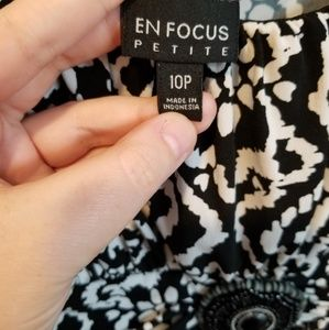 Enfocus Studio Dresses - Black and white jeweled maxi dress